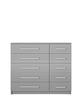 Save £30 at Very on Prague Gloss 5 + 5 Wide Chest Of Drawers