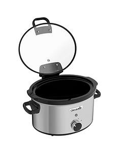 Save £3 at Very on Crock-Pot CSC044 3.5 litre Hinged Lid Slow Cooker - Stainless Steel