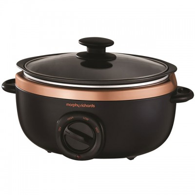 Save £5 at AO on Morphy Richards Evoke Sear And Stew 460016 3.5 Litre Slow Cooker - Black / Rose Gold