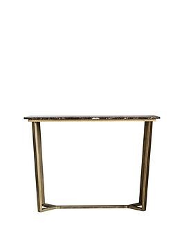 Save £70 at Very on Hudson Living Emperor Marble Console Table - Brown