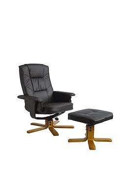 Save £20 at Very on Alphason Drake Recliner Office Chair With Matching Footstool