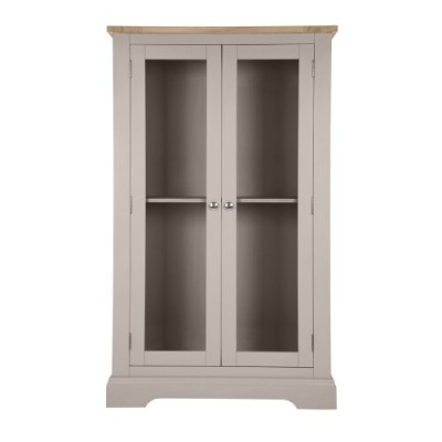 Save £350 at Laura Ashley on Dorset Pale French Grey 2 Door Display Cabinet