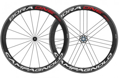 Save £200 at Evans Cycles on Campagnolo Bora One 50 Clincher Rim Brake 700c Road Wheelset - Shimano Freehub | Red/White - Carbon
