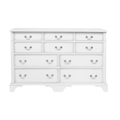 Save £388 at Laura Ashley on Clifton Cotton White 10 Drawer Chest of Drawers