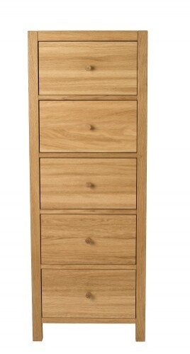 Save £250 at Laura Ashley on Brompton Oak Tall Chest of Drawers
