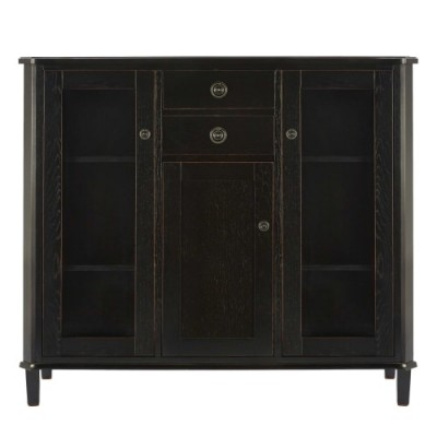 Save £313 at Laura Ashley on Henhsaw Black Low Display Cabinet