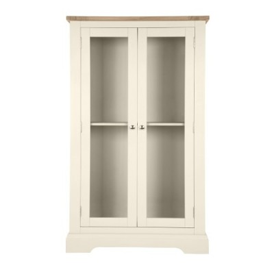 Save £350 at Laura Ashley on Dorset White Large 2 Door Display Cabinet