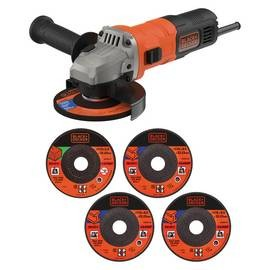 Save £5 at Argos on Black & Decker 115mm Angle Grinder & 5 Cutting Discs - 710W