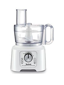 Save £10 at Very on Tefal Do544140 Doubleforce 800W Compact Plus Multifunction Food Processor - White