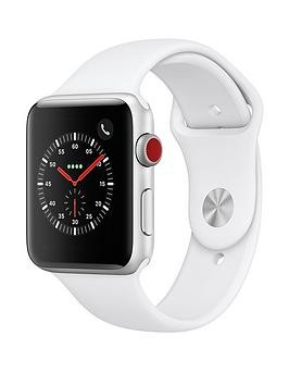 Save £80 at Very on Apple Watch Series 3 (2018 Gps + Cellular), 42Mm Silver Aluminium Case With White Sport Band