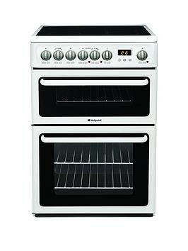 Save £41 at Very on Hotpoint Newstyle Hae60Ps 60Cm Double Oven Electric Cooker With Ceramic Hob - White