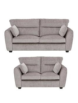Save £280 at Very on Tamora Fabric 3 Seater + 2 Seater Sofa Set (Buy And Save!)