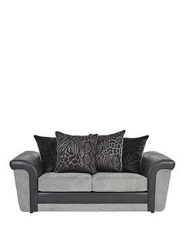 Save £140 at Very on Manhattan Fabric And Faux Snakeskin Scatter Back Sofa Bed