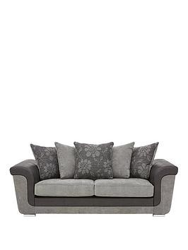 Save £100 at Very on Vidal Fabric And Faux Snakeskin 3 Seater Scatter Back Sofa