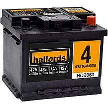 Save £10 at Halfords on Halfords HCB063 Calcium 12V Car Battery 4 Yea