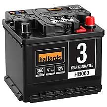 Save £9 at Halfords on Halfords HB063 Lead Acid 12V Car Battery 3 Ye