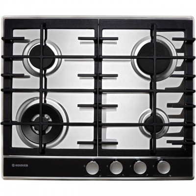 Save £59 at AO on Hoover HHG6BF4WVX 60cm Gas Hob - Stainless Steel / Black Glass