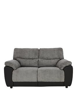 Save £50 at Very on Sienna Fabric/Faux Leather Static 2 Seater Sofa