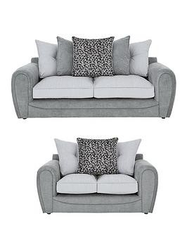 Save £352 at Very on Mosaic 3-Seater + 2-Seater Fabric Sofa Set (Buy And Save!)