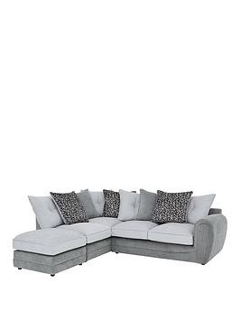 Save £320 at Very on Mosaic Fabric Left-Hand Single Arm Chaise Sofa With Matching Footstool