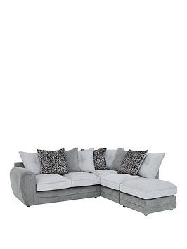 Save £320 at Very on Mosaic Fabric Right-Hand Single Arm Chaise Sofa With Matching Footstool