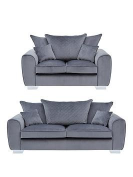 Save £380 at Very on Vibe Fabric 3 Seater + 2 Seater Scatter Back Sofa (Buy And Save!)