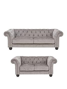 Save £460 at Very on Regent Fabric 3 Seater + 2 Seater Sofa Set (Buy And Save!)