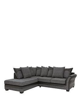Save £320 at Very on Austin Fabric And Faux Snakeskin Left Hand Corner Chaise Scatter Back Sofa