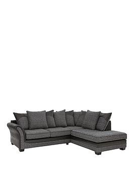 Save £320 at Very on Austin Fabric And Faux Snakeskin Right Hand Corner Chaise Scatter Back Sofa