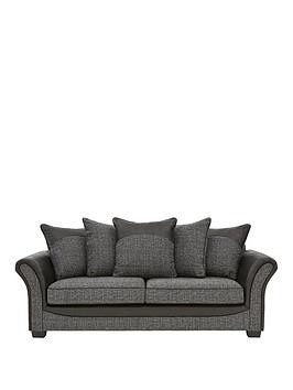 Save £180 at Very on Austin Fabric And Faux Snakeskin 3 Seater Scatter Back Sofa