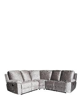 Save £340 at Very on Castille Fabric Manual Recliner Corner Group Sofa