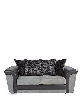 Save £96 at Very on Manhattan Fabric And Faux Snakeskin Scatter Back 2 Seater Sofa