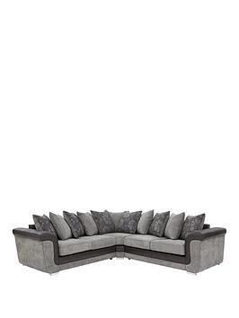 Save £240 at Very on Vidal Fabric And Faux Snakeskin Scatter Back Corner Group Sofa