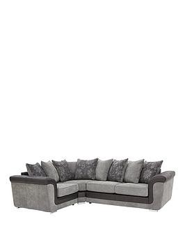 Save £200 at Very on Vidal Fabric And Faux Snakeskin Scatter Back Left Hand Corner Group Sofa
