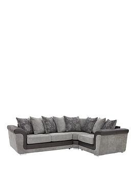 Save £200 at Very on Vidal Fabric And Faux Snakeskin Scatter Back Right Hand Corner Group Sofa