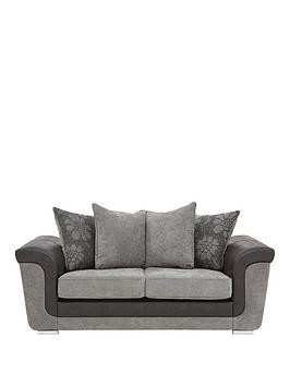 Save £96 at Very on Vidal Fabric And Faux Snakeskin 2 Seater Scatter Back Sofa