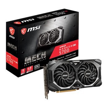 Save £41 at Scan on MSI AMD Radeon RX 5700 MECH OC 8GB RDNA Graphics Card