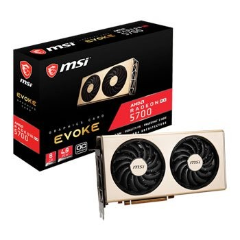 Save £50 at Scan on MSI AMD Radeon RX 5700 8GB EVOKE OC Graphics Card