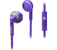 Save £4 at Currys on PHILIPS SHE3205PP/00 Headphones - Purple