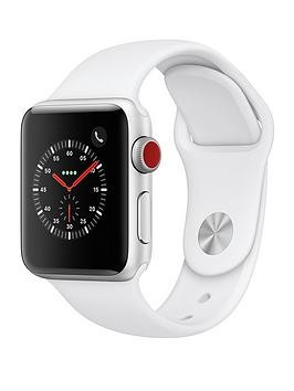 Save £80 at Very on Apple Watch Series 3 (2018 Gps + Cellular), 38Mm Silver Aluminium Case With White Sport Band