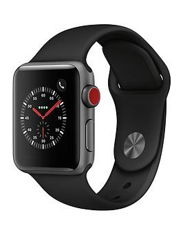 Save £80 at Very on Apple Watch Series 3 (2018 Gps + Cellular), 38Mm Space Grey Aluminium Case With Black Sport Band