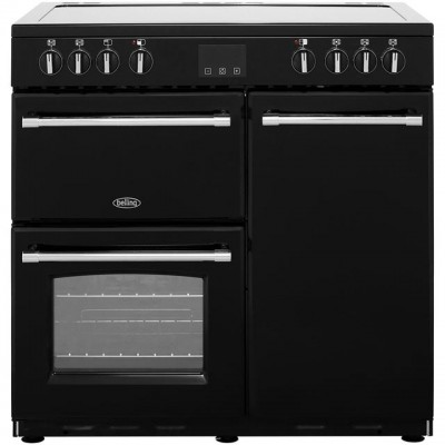 Save £159 at AO on Belling Farmhouse90E 90cm Electric Range Cooker with Ceramic Hob - Black - A/A Rated