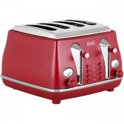 Save £11 at AO on De'Longhi Element CTOE4003.R 4 Slice Toaster - Red