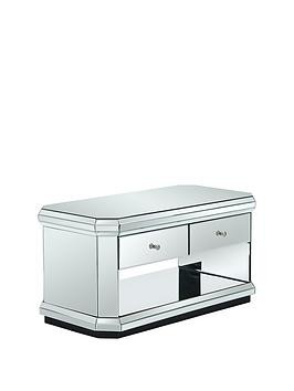 Save £18 at Very on Plinth Mirrored Ready Assembled Storage Coffee Table