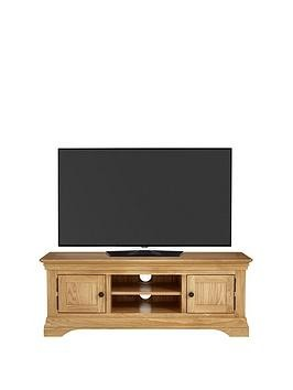 Save £25 at Very on Luxe Collection Constance Oak Ready Assembled Large Tv Unit - Fits Up To 60 Inch Tv