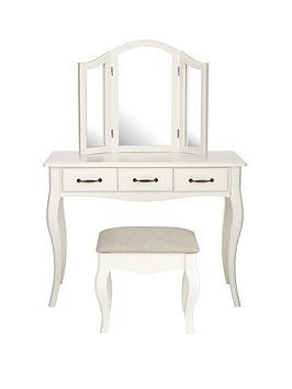 Save £20 at Very on Olivia Dressing Table, Mirror And Stool Set