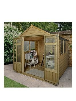 Save £280 at Very on Forest 7X7Ft Oakley Summerhouse - Overlap Pressure Treated With Installation