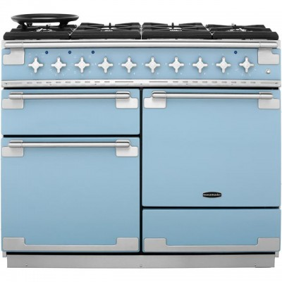 Save £280 at AO on Rangemaster Elise ELS110DFFCA 110cm Dual Fuel Range Cooker - China Blue - A/A Rated