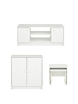 Save £15 at Very on Oslo 3 Piece Package - Tv Unit, 2 Door Sideboard And Nest Of 2 Tables