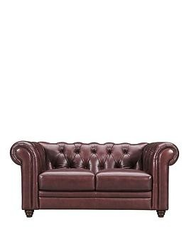 Save £105 at Very on Violino Chester Premium Leather 2 Seater Sofa